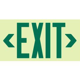 Glo-Brite Exit - Green Frameless