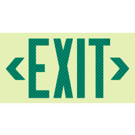 Glo-Brite Exit - Green Reflective Frameless