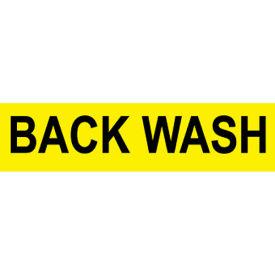 Pressure-Sensitive Pipe Marker - Back Wash, Pack Of 25