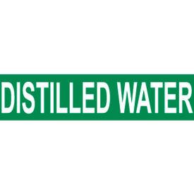 Pressure-Sensitive Pipe Marker - Distilled Water, Pack Of 25