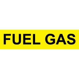 Pressure-Sensitive Pipe Marker - Fuel Gas, Pack Of 25