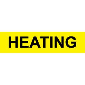 Pressure-Sensitive Pipe Marker - Heating, Pack Of 25