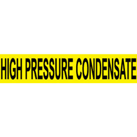 Pressure-Sensitive Pipe Marker - High Pressure Condensate, Pack Of 25