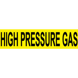 Pressure-Sensitive Pipe Marker - High Pressure Gas, Pack Of 25