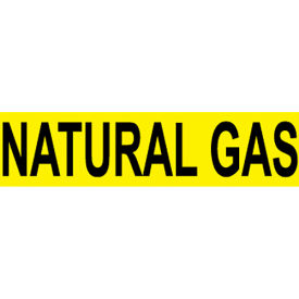 Pressure-Sensitive Pipe Marker - Natural Gas, Pack Of 25