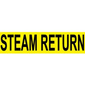 Pressure-Sensitive Pipe Marker - Steam Return, Pack Of 25