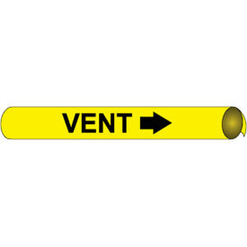Precoiled and Strap-on Pipe Marker - Vent