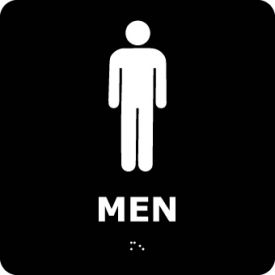 Graphic Braille Sign - Men - Black