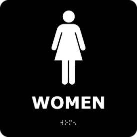 Graphic Braille Sign - Women - Black