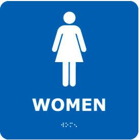 Graphic Braille Sign - Women - Blue