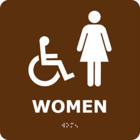 Graphic Braille Sign - Women - Brown
