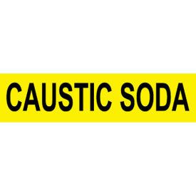 Pressure-Sensitive Pipe Marker - Caustic Soda, Pack Of 25
