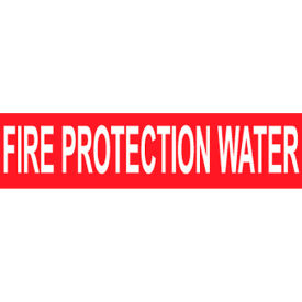 Pressure-Sensitive Pipe Marker - Fire Protection Water, Pack Of 25