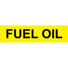 Pressure-Sensitive Pipe Marker - Fuel Oil, Pack Of 25