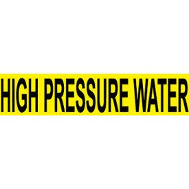 Pressure-Sensitive Pipe Marker - High Pressure Water, Pack Of 25