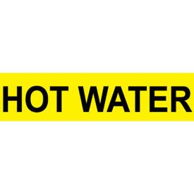 Pressure-Sensitive Pipe Marker - Hot Water, Pack Of 25