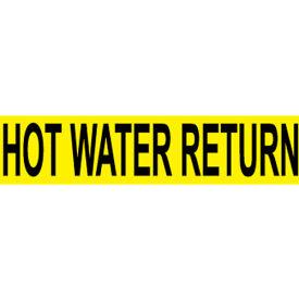 Pressure-Sensitive Pipe Marker - Hot Water Return, Pack Of 25