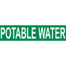 Pressure-Sensitive Pipe Marker - Potable Water, Pack Of 25