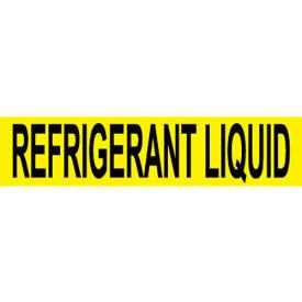 Pressure-Sensitive Pipe Marker - Refrigerant Liquid, Pack Of 25