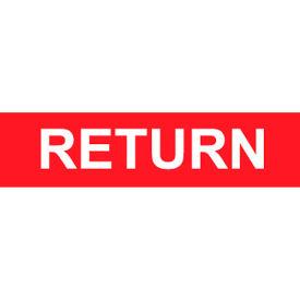 Pressure-Sensitive Pipe Marker - Return, Pack Of 25