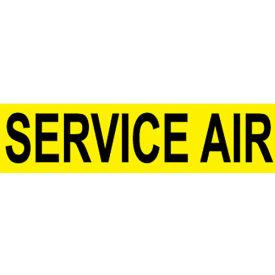 Pressure-Sensitive Pipe Marker - Service Air, Pack Of 25