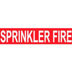Pressure-Sensitive Pipe Marker - Sprinkler Fire, Pack Of 25