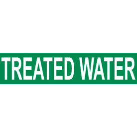 Pressure-Sensitive Pipe Marker - Treated Water, Pack Of 25