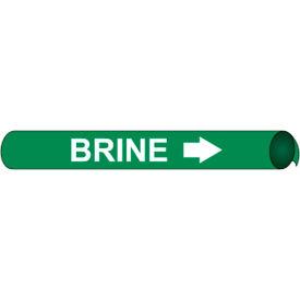 Precoiled and Strap-on Pipe Marker - Brine