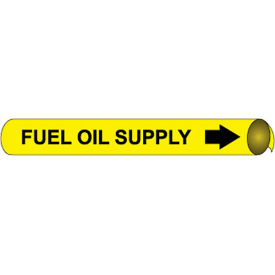Precoiled and Strap-on Pipe Marker - Fuel Oil Supply
