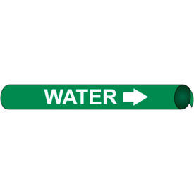Precoiled and Strap-on Pipe Marker - Water
