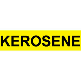 Pressure-Sensitive Pipe Marker - Kerosene, Pack Of 25