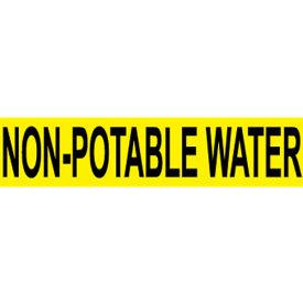 Pressure-Sensitive Pipe Marker - Non-Potable Water, Pack Of 25