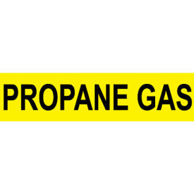 Pressure-Sensitive Pipe Marker - Propane Gas, Pack Of 25