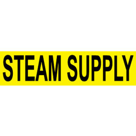 Pressure-Sensitive Pipe Marker - Steam Supply, Pack Of 25