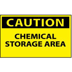 Machine Labels - Caution Chemical Storage Area