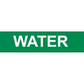 Pressure-Sensitive Pipe Marker - Water, Pack Of 25