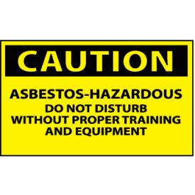 Machine Labels - Caution Asbestos Hazardous