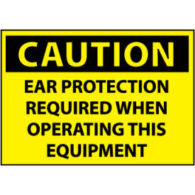 Machine Labels - Caution Ear Protection Required