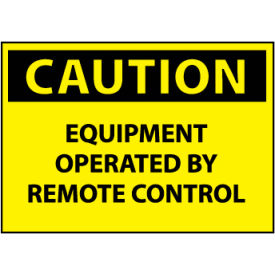 Machine Labels - Caution Equipment Operated By Remote Control