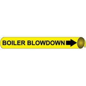 Precoiled and Strap-on Pipe Marker - Boiler Blowdown