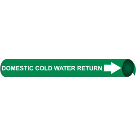 Precoiled and Strap-on Pipe Marker - Domestic Cold Water Return