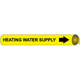 Precoiled and Strap-on Pipe Marker - Heating Water Supply