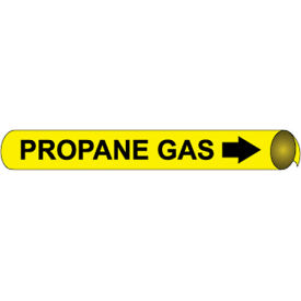 Precoiled and Strap-on Pipe Marker - Propane Gas