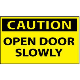 Machine Labels - Caution Open Door Slowly