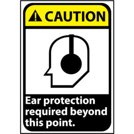 Caution Sign 14x10 Rigid Plastic - Ear Protection Required