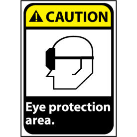 Caution Sign 14x10 Aluminum Eye Protection Area