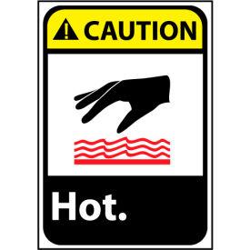 Caution Sign 14x10 Vinyl - Hot