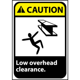 Caution Sign 14x10 Rigid Plastic - Low Overhead Clearance