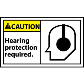 Graphic Machine Labels - Caution Hearing Protection Required