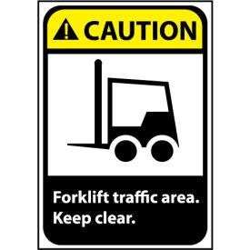 Caution Sign 14x10 Aluminum - Forklift Traffic Area